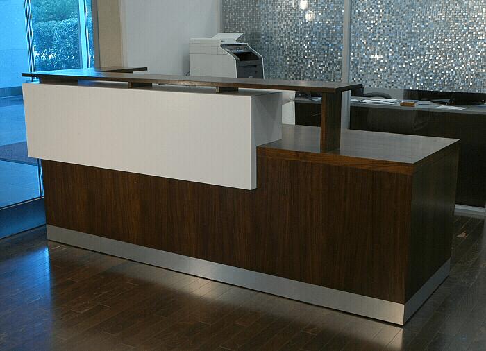 Hand Crafted Duchamp Reception Desk Contemporary Reception Desk By El Dorado Woodworks