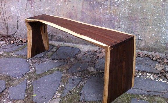 Custom Live Edge Walnut Bench By Harlembuilt Custommade Com