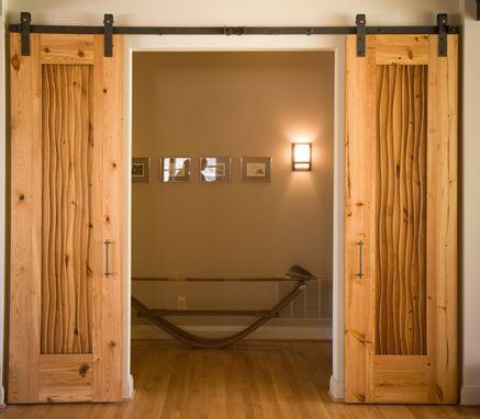 Hand Made Custom Heart Pine Sliding Doors By Eidolon