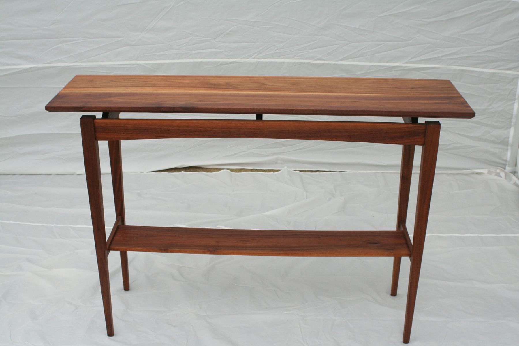 Hand Made Walnut Sofa Table By Wood In Motion