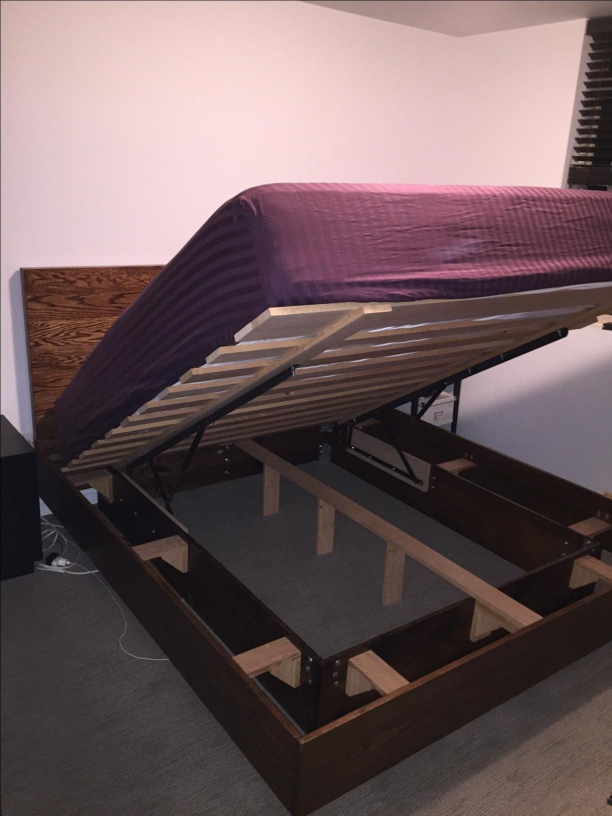 Hand Crafted Storage Bed With Floating Frame By Bolt