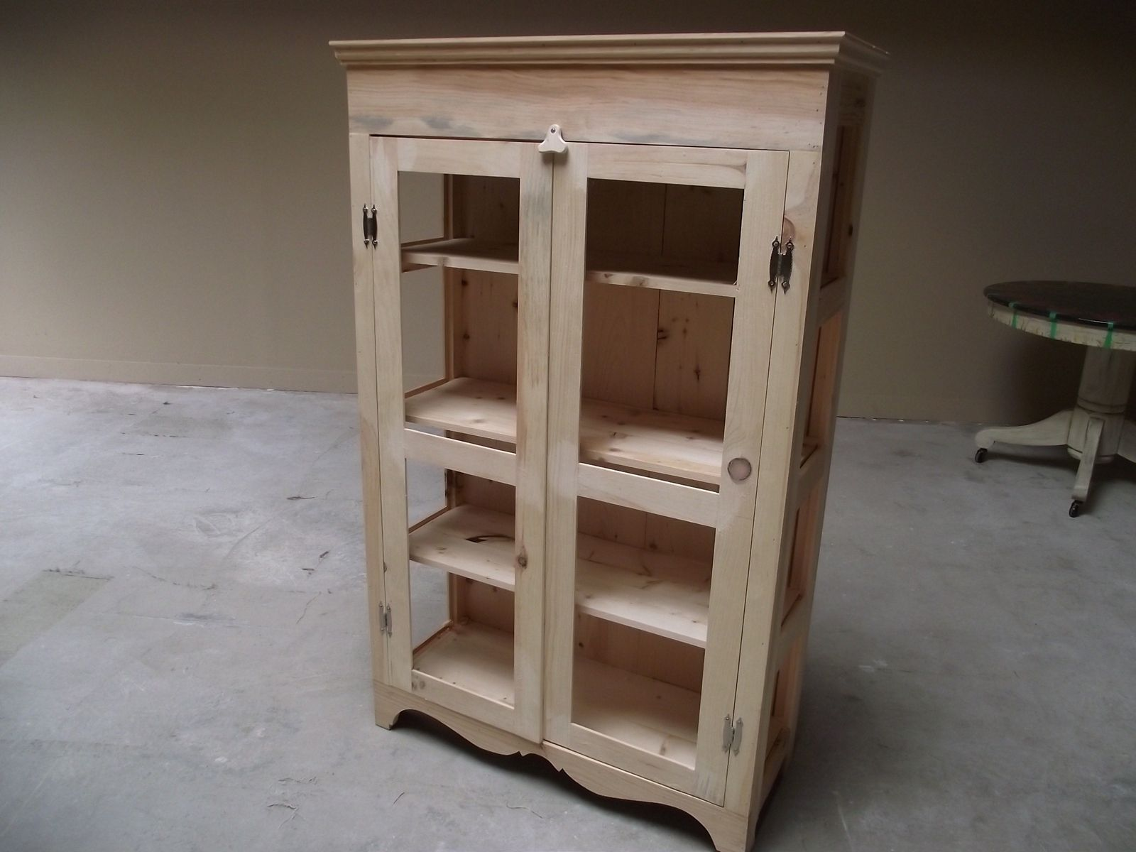 Hand Crafted Pie Safe Or Kitchen Hutch, Diy, Unfinished