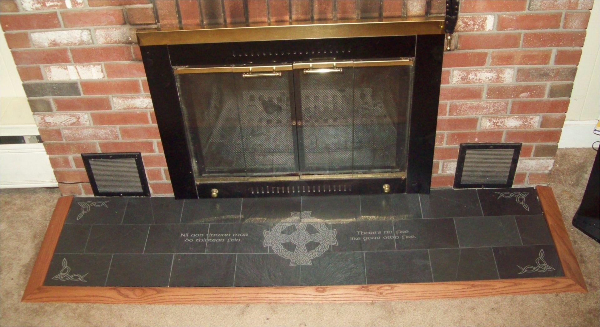 engraved slate fireplace hearth