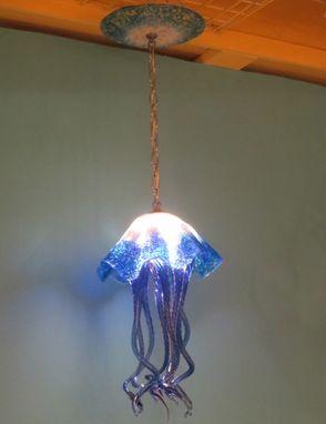 Buy A Hand Made Blown Glass Chandelier Jellyfish Light