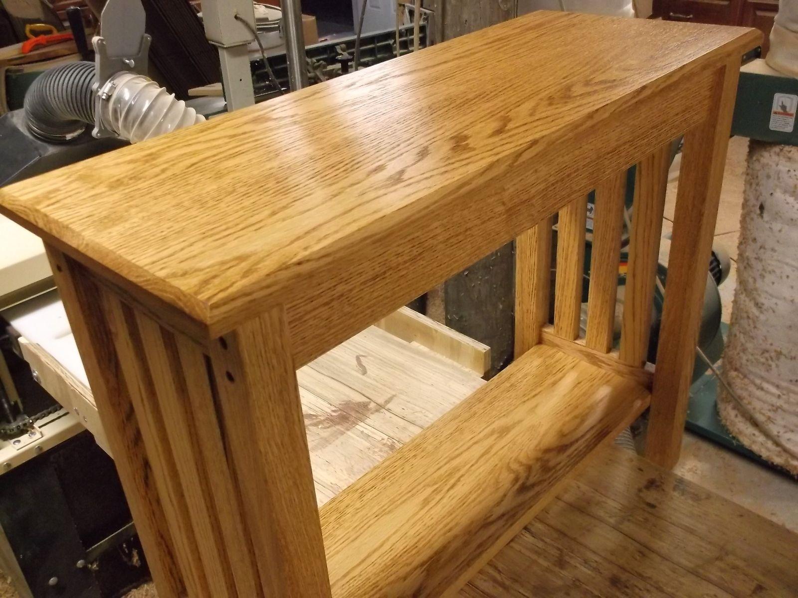 Custom Mission Style Oak Sofa Table By Db Custom Wood Shop