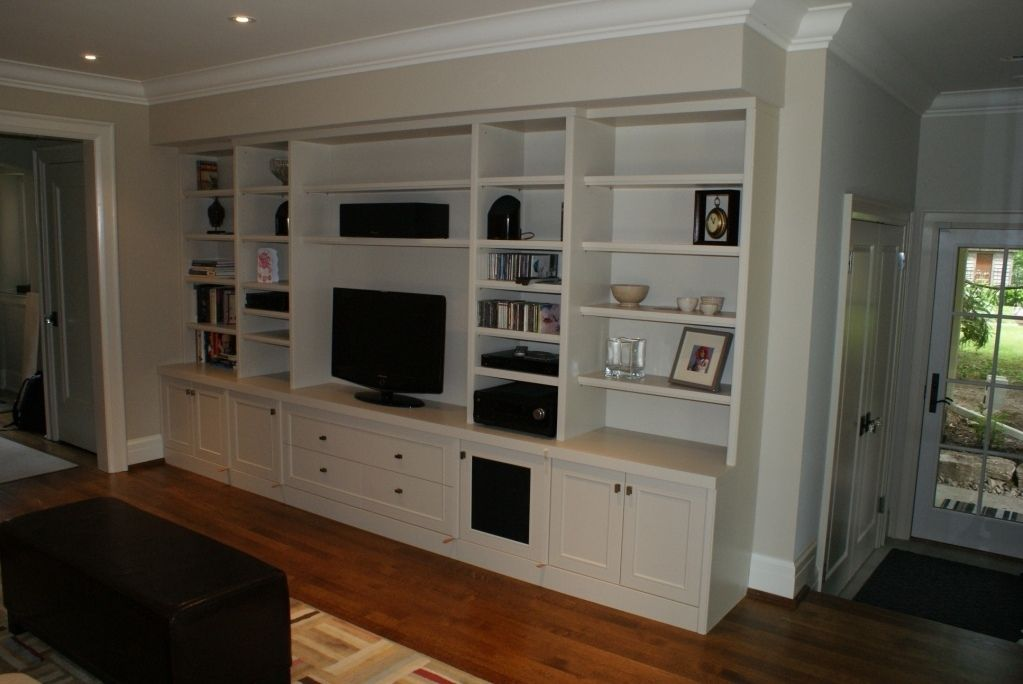 Custom Made Built-In Audio/Video Wall Unit By Wiggers