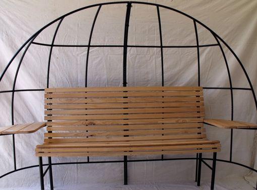Handmade Rebar Trellis Bench By Disilvestro Steelworks