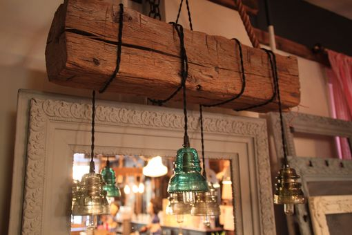 Buy A Custom Made Reclaimed Wood Beam Chandelier Made To