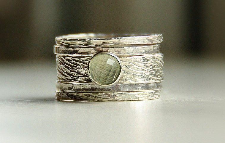 Buy Hand Made Hannah Rustic Ring Seamfoam Green Amethyst