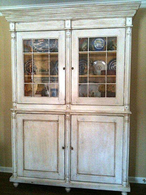Custom Made Antique French China Cabinet By Hand Crafted