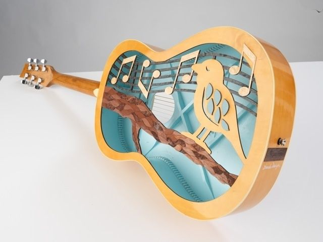 Custom Laser Cutting Acoustic Guitar For Charity Project