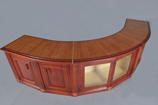 Custom Curved Cherry Sofa Table By HampM Woodworks