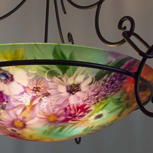 Northwest Mixed Fl Hand Painted Chandelier By