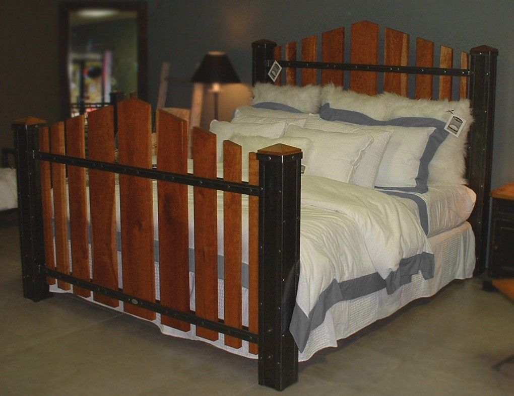 Custom King Size Iron And Cherry Wood Bed The Majestic By Desiron Custom Metal