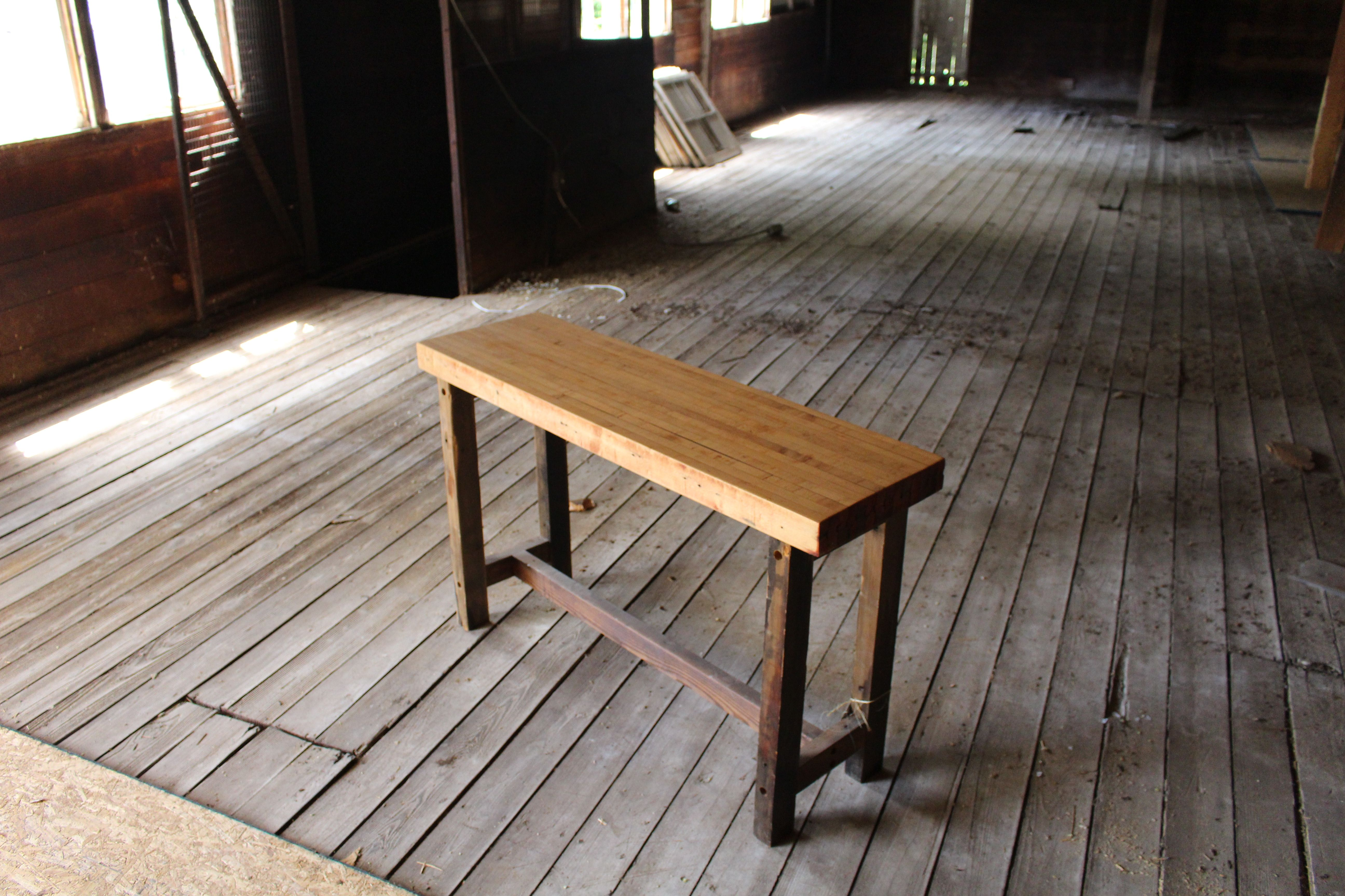 Buy A Hand Crafted Reclaimed Barn Wood And Bowling Alley