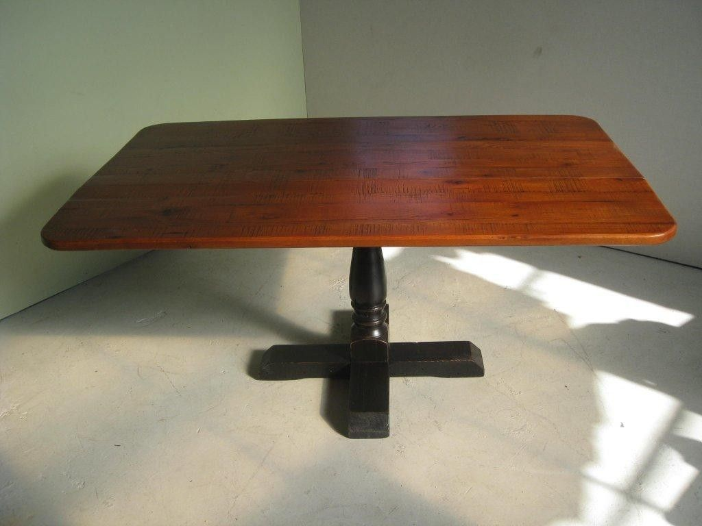 Custom Square Pedestal Base Dining Table With Drop Leaf