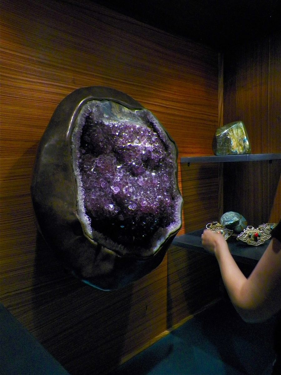 Hand Made Amethyst Crystal Show Piece Mount By Hellgate