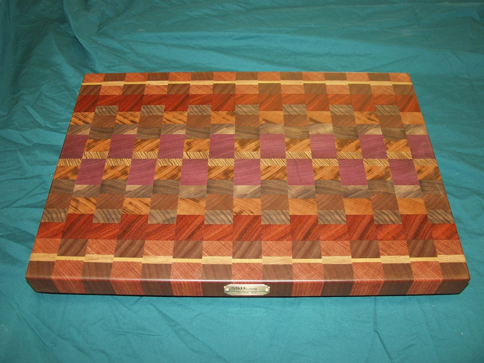 Handmade Exotic Wood End Grain Cutting Board By Dissident
