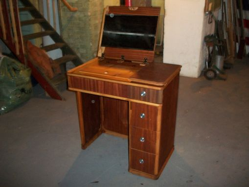 Hand Crafted Vintage Sewing Desk Re Purposed Into A Vanity By Jacob Smith