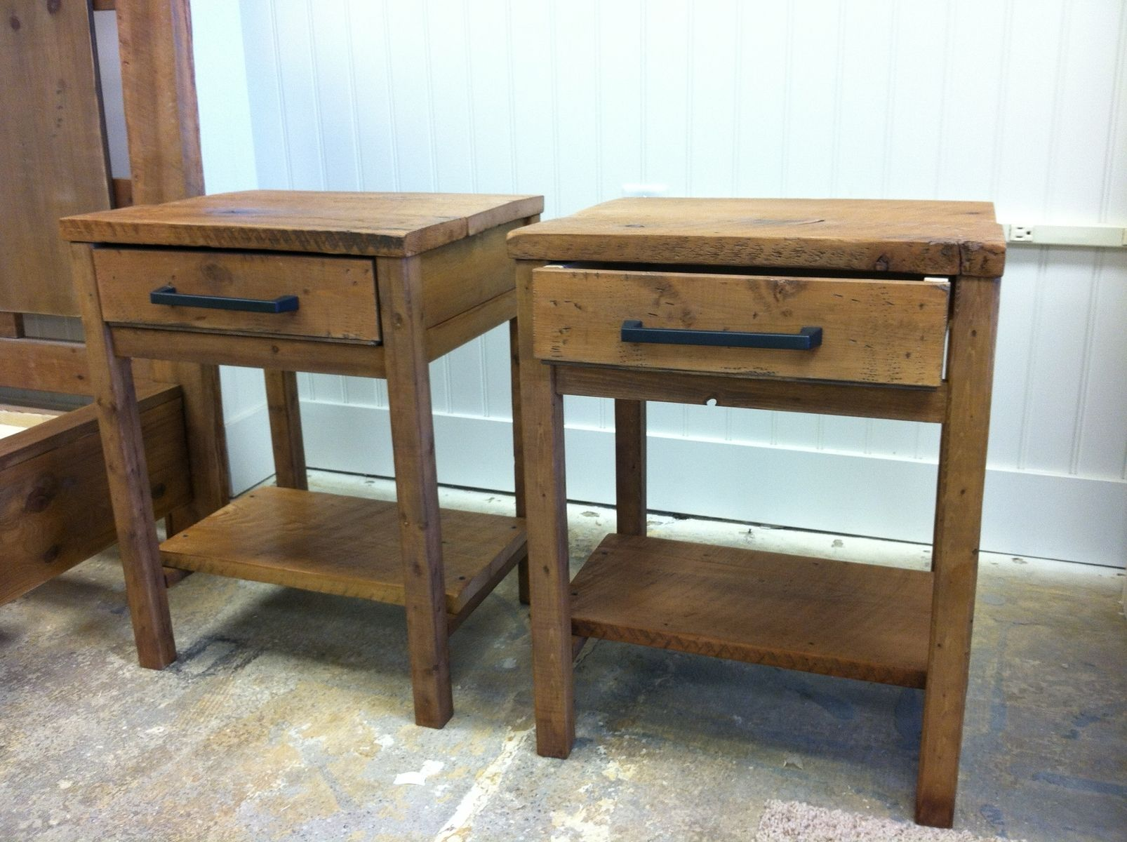 Custom Made Reclaimed Wood End Tables By Sb Designs