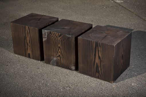 Hand Crafted Solid Wood Cube Table By ARBusch