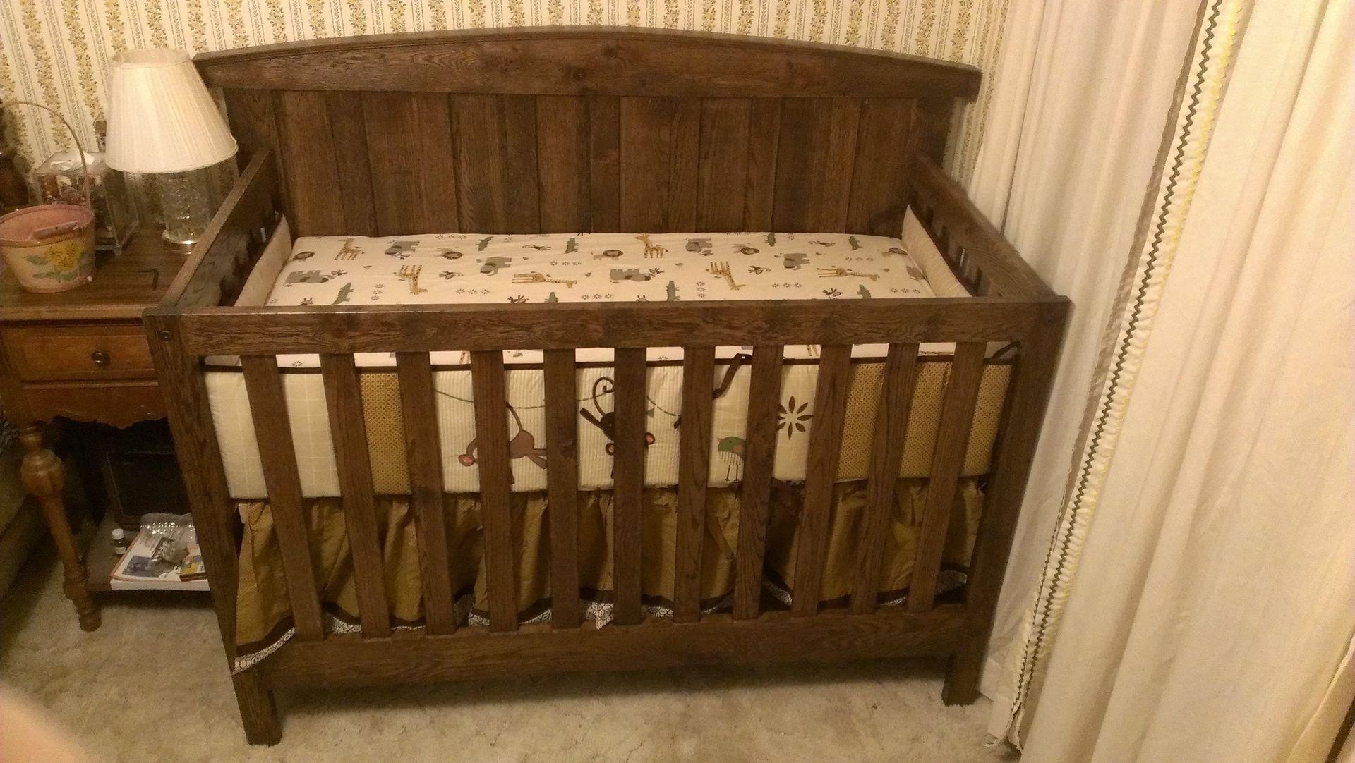 Custom Made Solid Oak Farm Style Crib By Scott Design