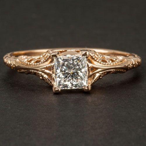 Custom 12ct Gia Certified Princess Cut Engagement Ring