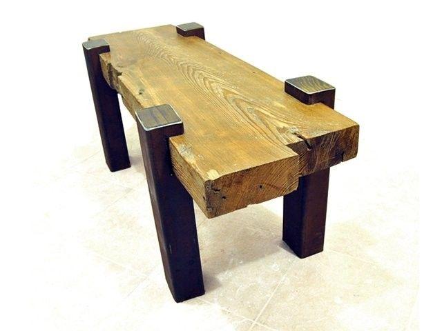 reclaimed beam coffee table