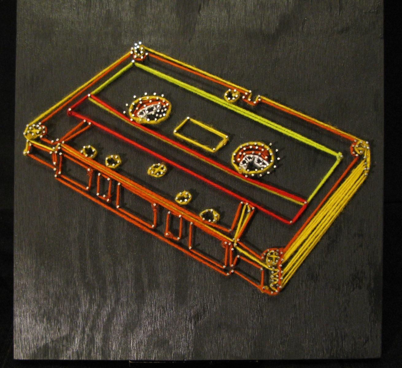 Custom Cassette Tape String Art By Bitter String Art