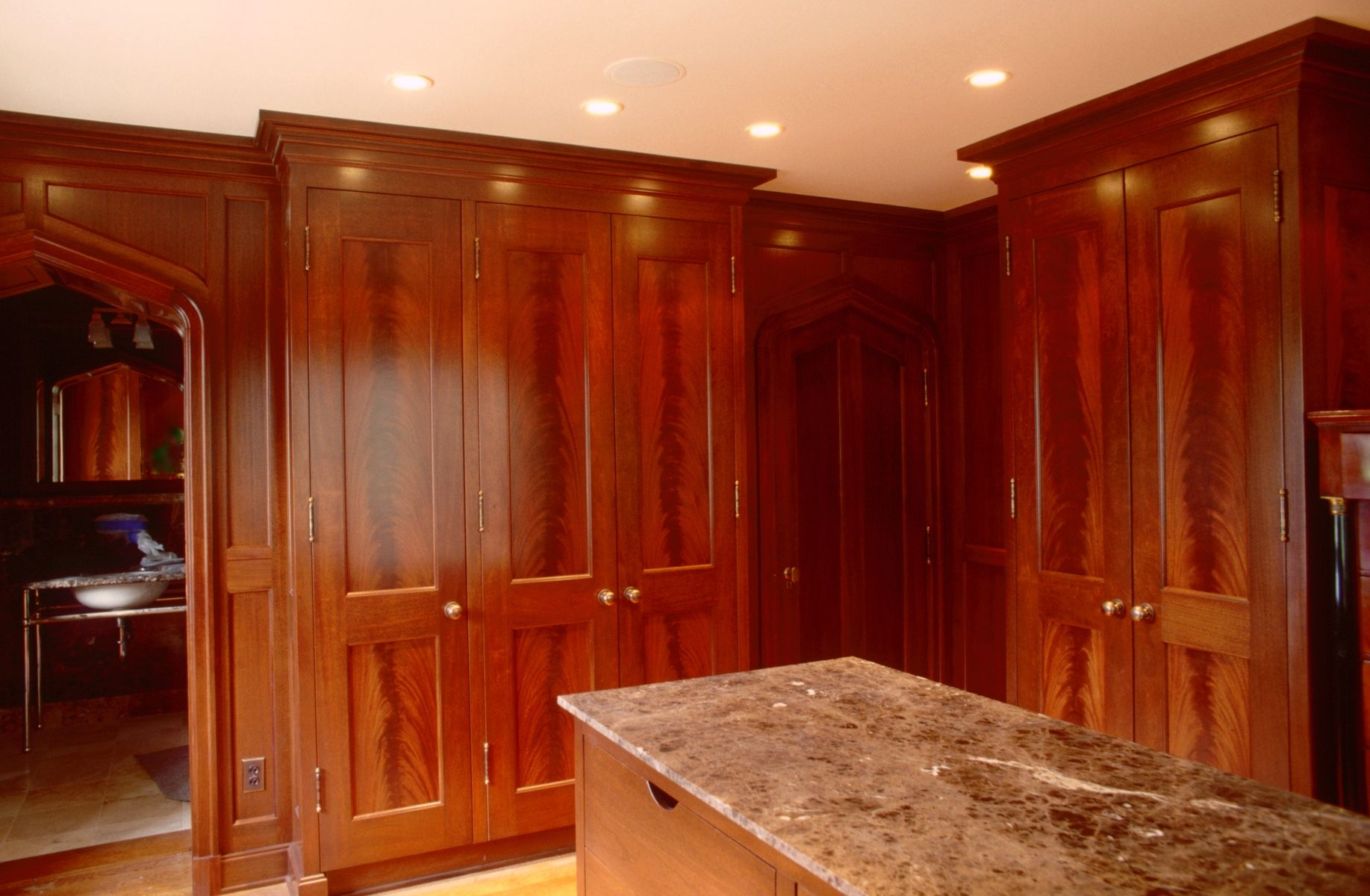 Custom Mahogany Dressing Room By Neal Barrett Woodworking
