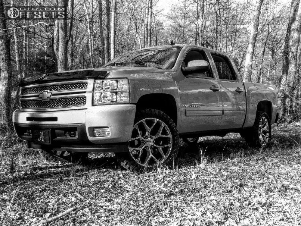 Lifted White Chevy 1500