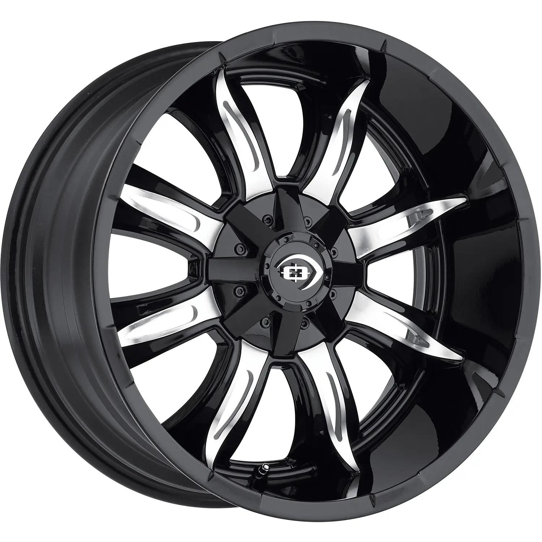 Vision manic 20x10 25 custom wheels
