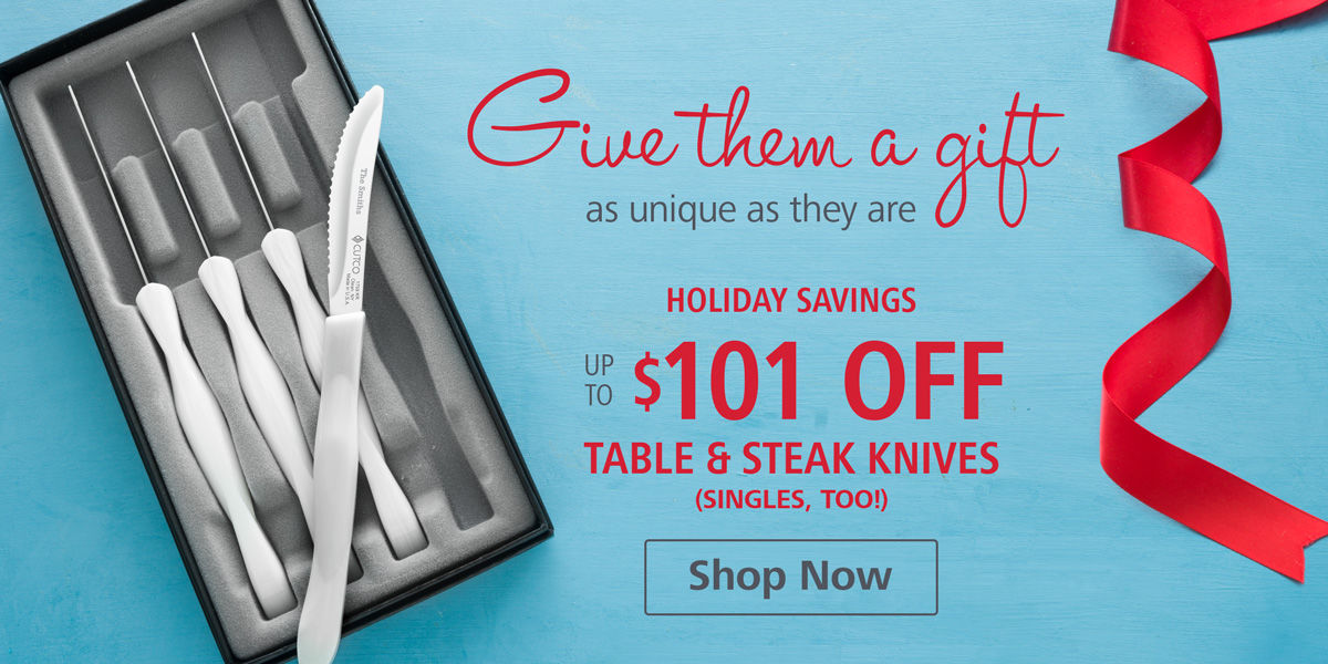 Holiday Savings - Up to <></> OFF Table & Steak Knife Sets