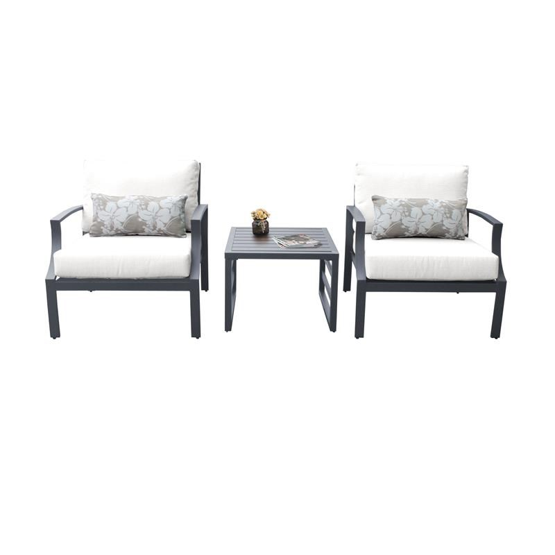 tk classics lexington 3 piece aluminum patio furniture set 03a in white