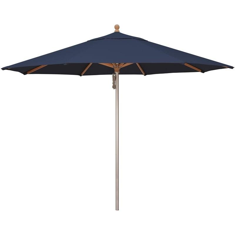 simply shade ibiza 11 octogonal sunbrella patio umbrella in navy
