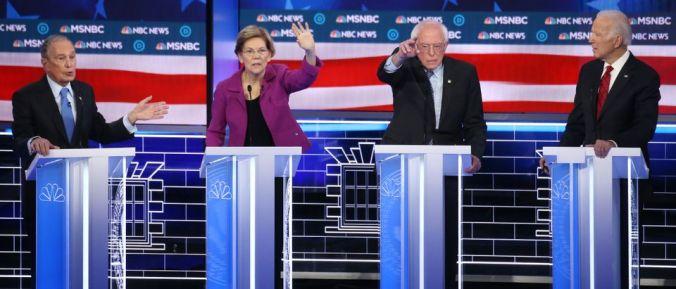 Democratic Presidential Candidates Debate In Las Vegas Ahead Of Nevada Caucuses