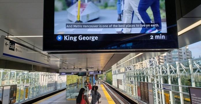 Joyce-Collingwood SkyTrain Station LCD signaling platform