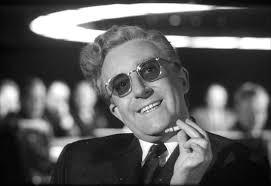 Peter Sellers as Dr. Strangelove in the Stanley Kubrick film of the same name.