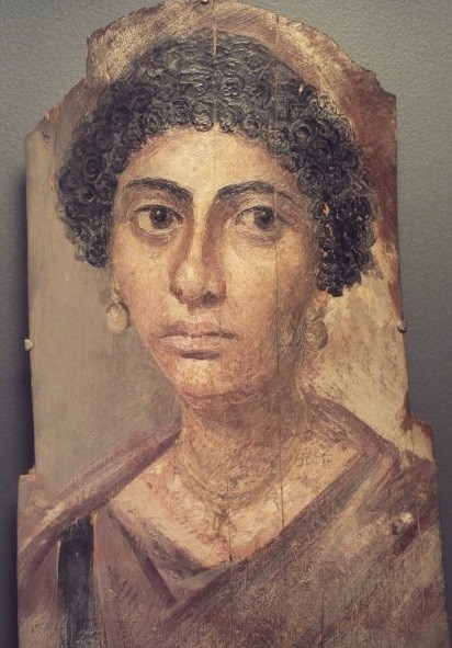 Female mummy portrait from brooklyn Museum