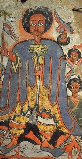 Ethioptian triptych detail. Museum Rietberg, Zurich, Switzerland;