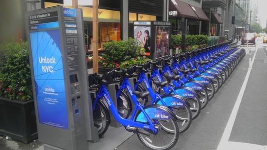 Community bikes in Manhattan