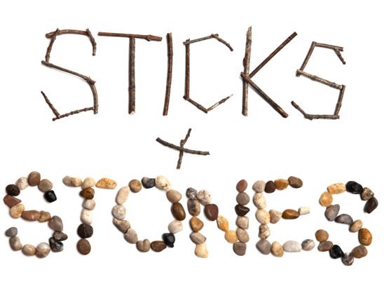 Image result for sticks and stones may break my bones