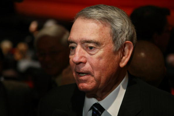 "NEW YORK - JANUARY 15:  News Anchor Dan Rather attends the Broadway opening night of ""Soul of Shaolin"" at the Marquis Theatre on January 15, 2009 in New York City.  (Photo by Neilson Barnard/Getty Images)"