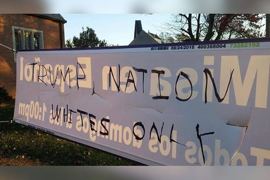 http://cdanews.com/2016/11/two-more-churches-vandalized-with-donald-trump-and-racist-graffiti/
