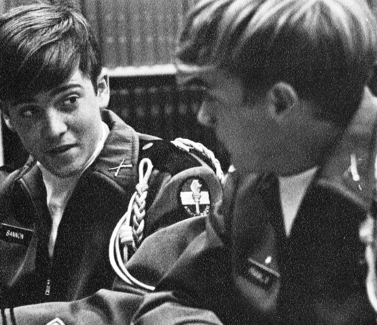 Steve Bannon Senior Year 1972.Benedictine High School, Richmond, VA.Military Court; Steve is on the left.Credit:  Seth Poppel/Yearbook Library