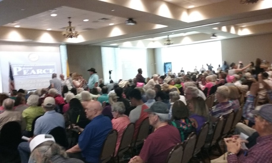Indivisible, ProgressNow, ACLU fill Pearce town hall