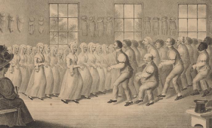 Shakers Dancing. Circa 1830-39