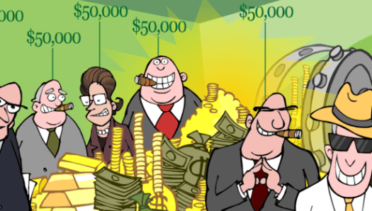 Cartoon by Mark Fiore --  Taxcutiva