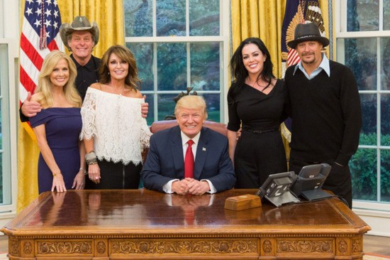 White House with Sarah Palin, Ted Nugget and Trump