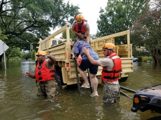Image result for Texas National Guard aid residents in flooded areas from Hurricane Harvey daily kos